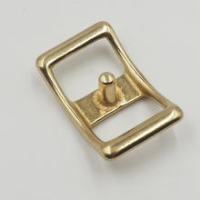 China factory solid brass conway buckle brass polished conway belt buckles for straps