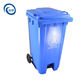 Pedal wheel trash can plastic outdoor community sanitation garbage bin outdoor large capacity foot trash can with cover