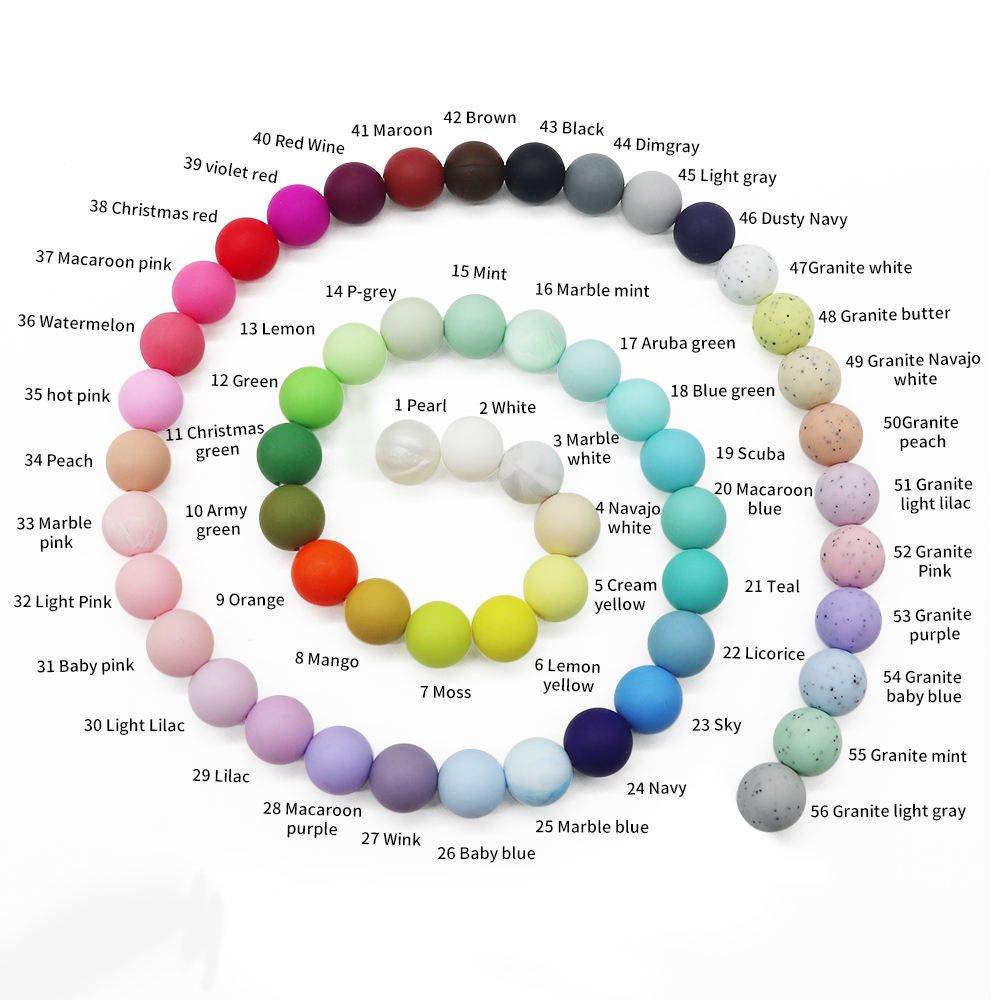 BPA Free Silicone Beads Round 12mm Beads Teething Teether Wholesale Silicone Beads