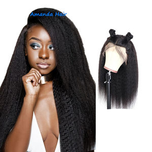 10a Wholesale Cheap Cuticle Aligned Virgin Mongolian Human Hair Lace Frontal Afro Kinky Straight Curly Wig