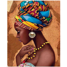 Diy 5d Diamond Painting kit Full Drill African Woman Diamond Embroidery Home Decor canvas printing by number wall art