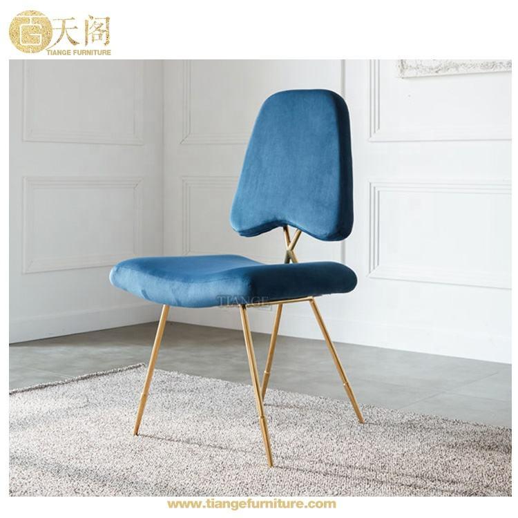 الفاخرة الايطالية الحديثة تصميم مطعم الأثاث الذهب الفولاذ المقاوم للصدأ الصليب الظهر كرسي مقهى