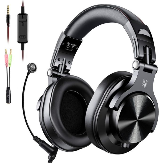 Over Ear Headphones Hifi Studio DJ Headphone Wired Monitor Music Gaming Headset Earphone For Phone Computer PC With Mic