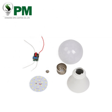 Good price 3W 5W 7W 9W 12W 15W 18W E27 B22 21w led bulb parts raw materials spare parts