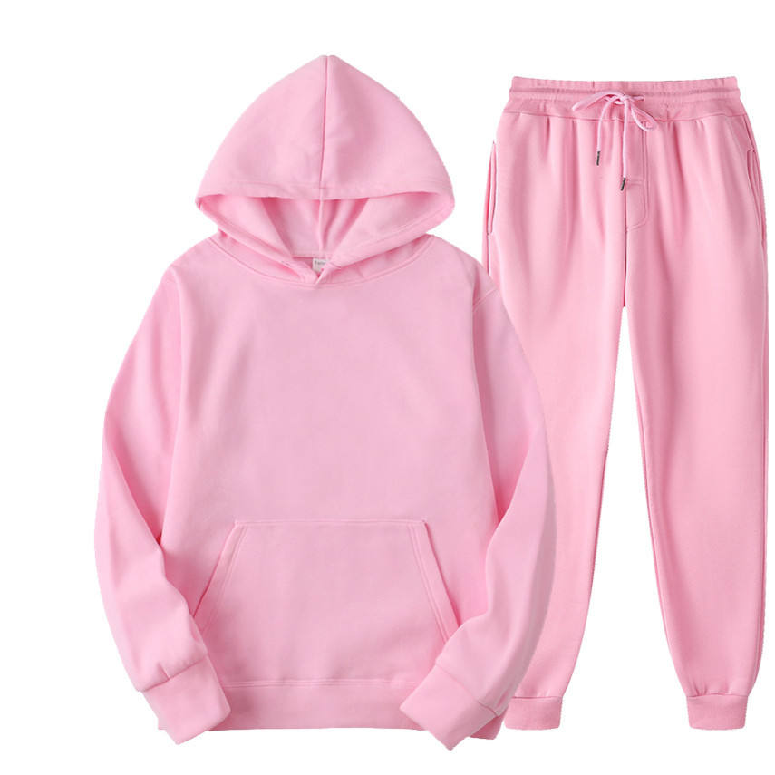 2020 fall winter velvet jumper sweatsuit loose sweatpants with hoodies womens tracksuit set