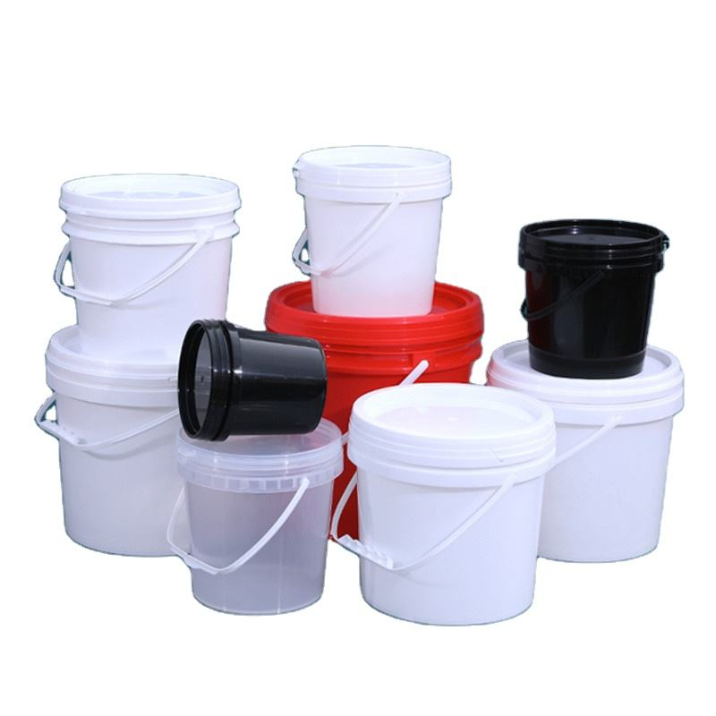 High quality 2.5 / 5 / 10 / gallon plastic paint bucket for Food ice cream biscuit oil