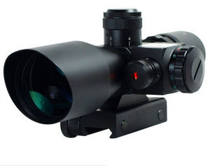 Mil-Dot Reticle Sight Scope Jacht Riflescope 2.5-10 X 40E Keer Zoom Laser Verlichte Tactical Riflescope 20mm Rail Mount