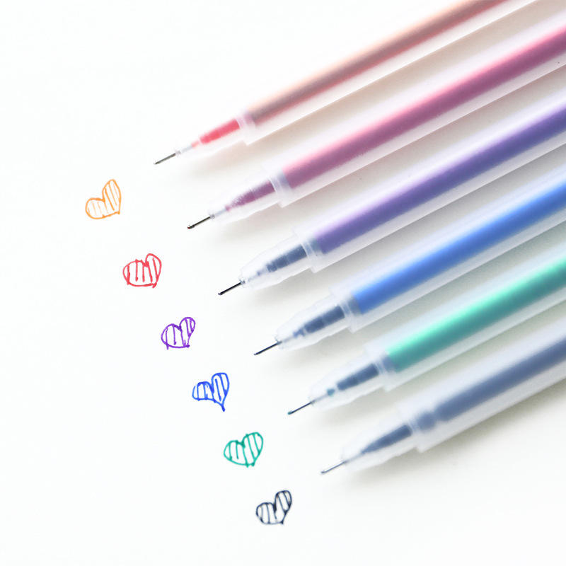 Best selling color gel pens simple office school using cute creative plastic ink pen