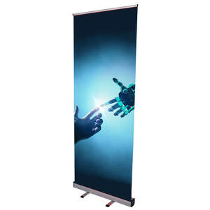 Best selling portable economy rollup retractable banner stand green roll up banner base