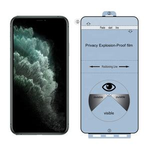 Wholesale 3D Anti Spy Korea Top Quality Privacy Screen Protector For iPhone 11 Samsung Note 20 Huawei Mate 30