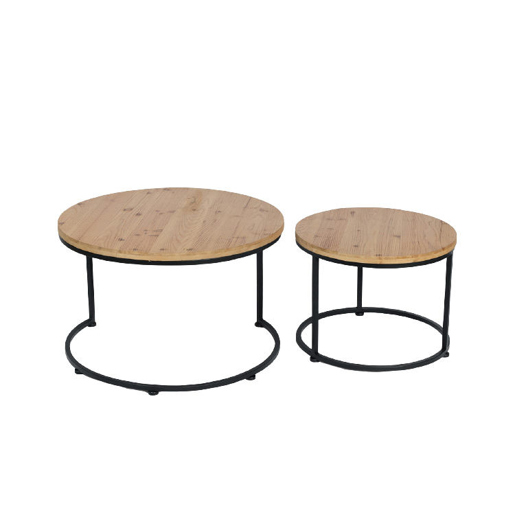 Home Furniture metal leg wooden coffee table chinese tea table for living room modern