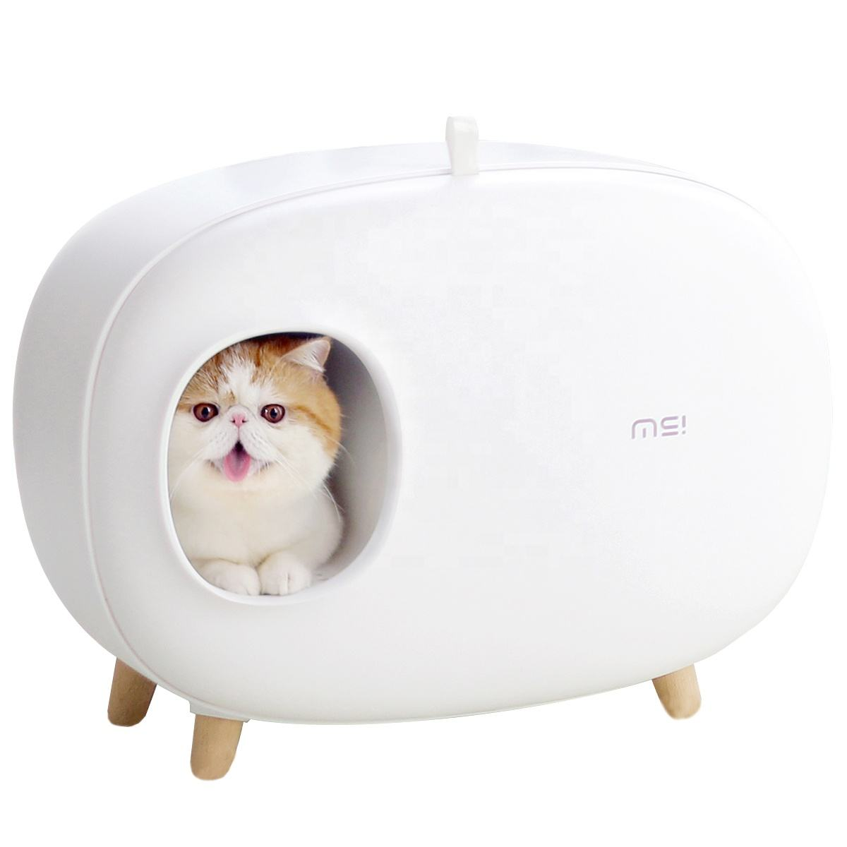 Hot in Europe wholesale pet cleaning enclosed training cat litter box fashion and lightweight toilets for cats high quality