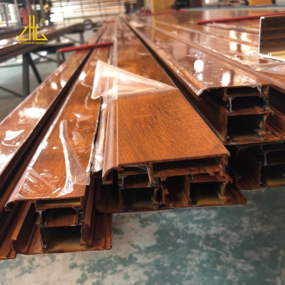 China aluminum extrusion factory produce new design aluminum profile wooden grain aluminum profile