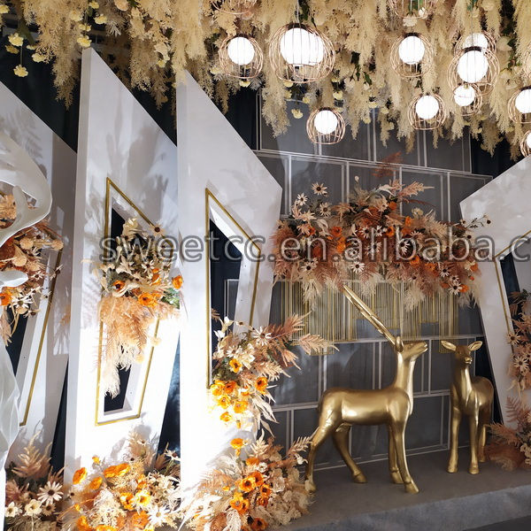 Wedding decoration white color backdrop exclusive design geometric pattern backdrop for wedding decor