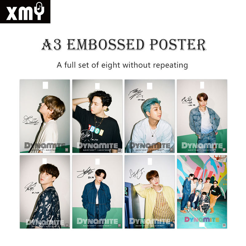 New Korean star peripheral A3 poster BL bulletproof youth new album embossed HD poster