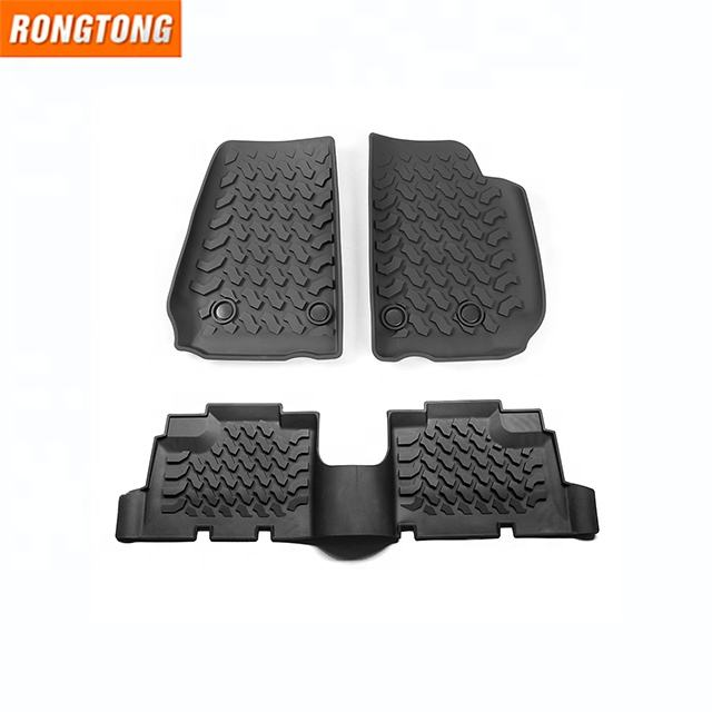 2 Door 4 Door Car Foot Mat Floor Rubber Accessories Rear Liner Waterproof Auto Mat For Jeep Wrangler JK 2007-2017