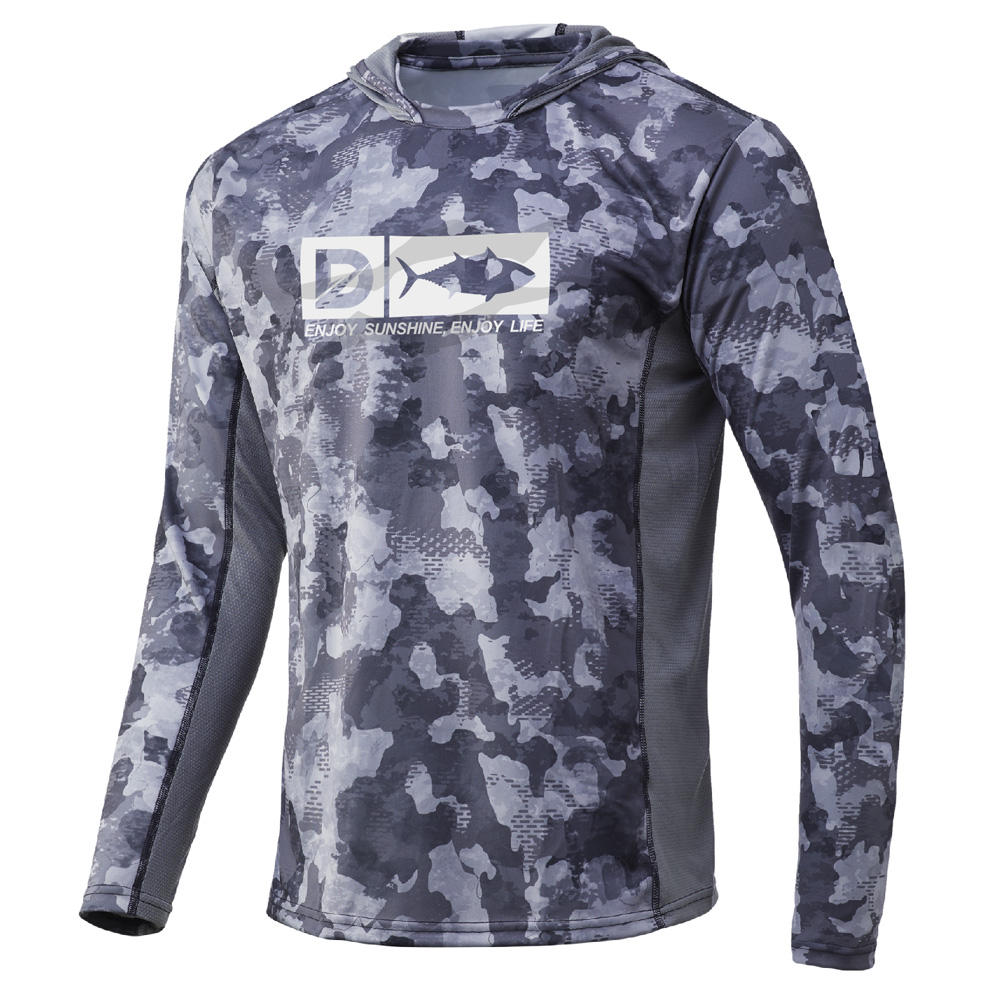 OEM polyester desert camo combat shirt fishing camo t shirt frost hunting camo hoodie rash guard men daiwa jacket