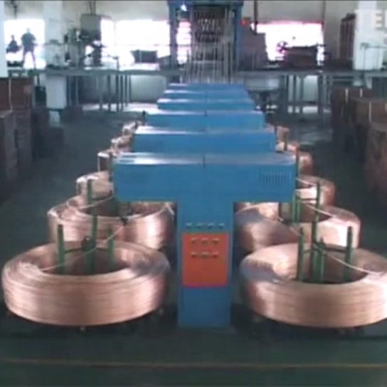 8mm upcast copper rod continuous casting machine