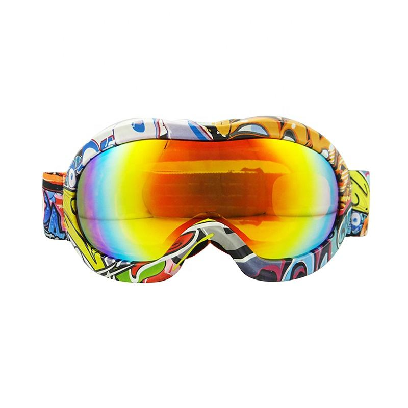 safety Flexible TPU frame ski goggle snowboarding gogges snow motorcycle goggle for kids