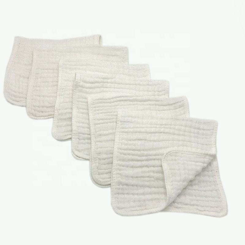 Burp Cloths Muslin Burp Cloths 100% Cotton Hand Wash Cloth 6 Layers Extra Absorbent And Soft