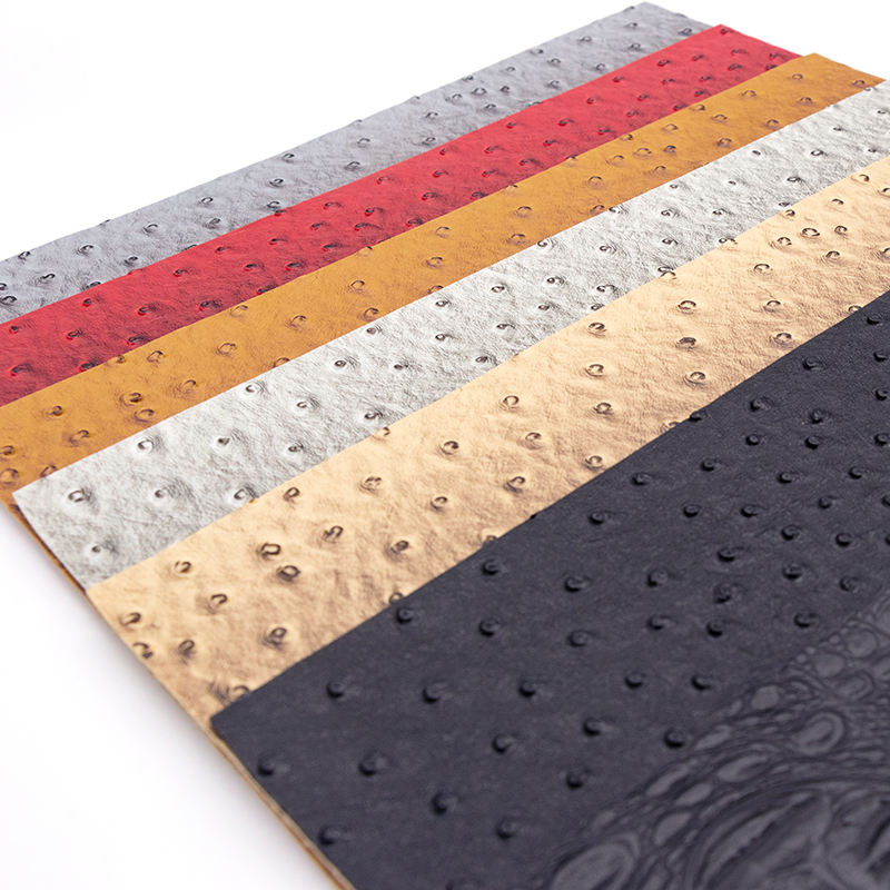 Imitation Crocodile Ostrich Pattern PVC Leather Fabric for Making Bags Shoes etc