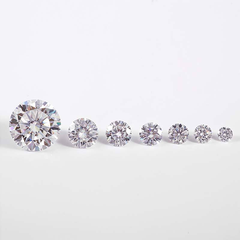 4H Sic forever hearts and arrows cut round DEF color moissanite loose with wholesale price