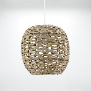 new products 2020 unique pendant light led lampshade accessories sea grass hang lamp rattan light fixtures