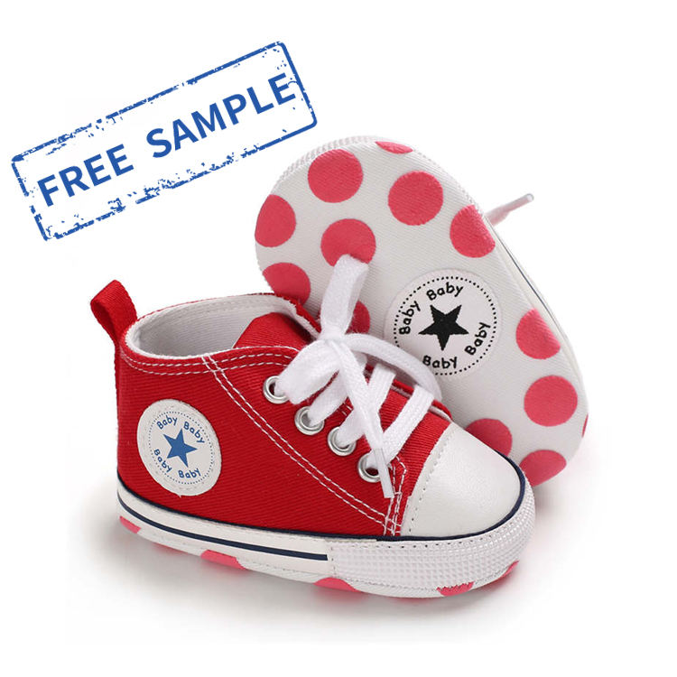 Free sample 20 Colors anti-slip soft sole 0-2 years prewalk infant boy baby shoes