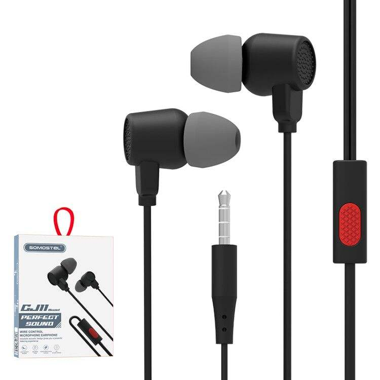 [Somostel Audifono]SMS-CJ11 Original Noise-cancelling Free Sample Cheap Custom 3.5mm In-ear Sport Earphone with Wire