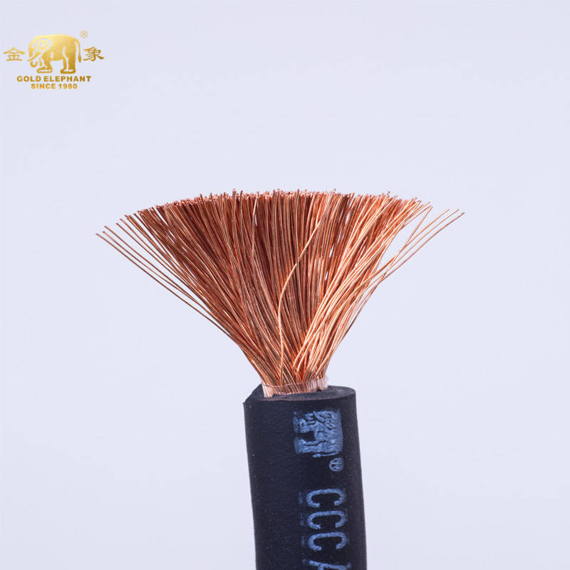 GOLDEN ELEPHANT High quality fine ultra flex welding cable accessories pvc welding cable excellent 95 mm welding cable