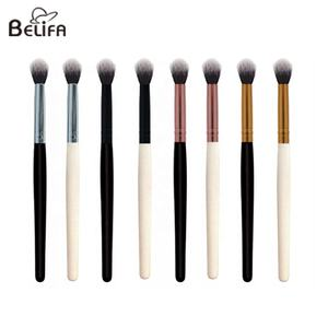 Belifa custom private label vegan synthetic hair single rose gold silver black white eye shadow makeup eyeshadow blending brush