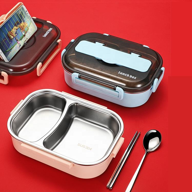 Tiffin Set Food Plastic Bento Thermal Stainless Steel Lunch Box for Kids