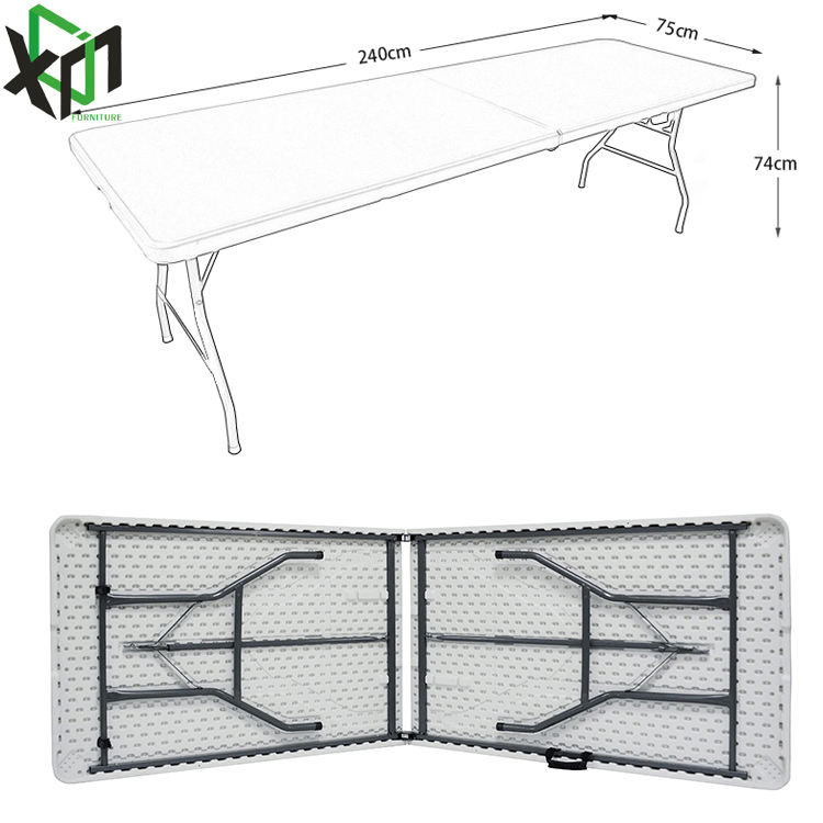 8 ft plastic folding table and chair for camping or event folding plastic folding table for camping