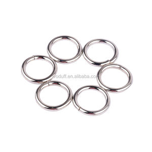 Custom hardware accessoires glanzend licht metalen 16mm handtas o ring gesp