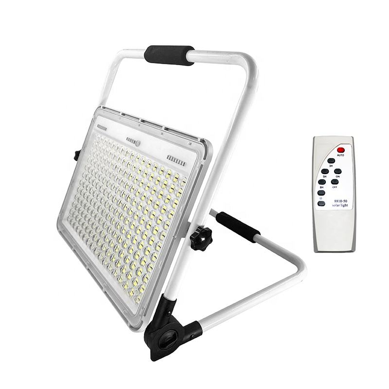IP65 Waterproof 150W Rechargeable Solar Power Bank LED Solar Camping Flood Lightと家庭用USB PORT