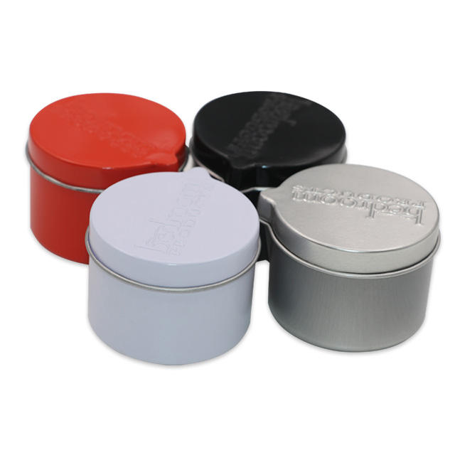 Wholesale Packaging 50ml Round Colorful Tin Metal Candle Cans Containers