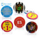 Wholesale china cheap souvenir custom flashing blank button badge 58mm with your own design