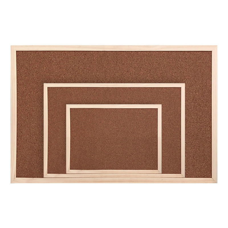 Wholesale Custom Standard Sizes Bulletin Notice Message Cork Board in Wooden Frame