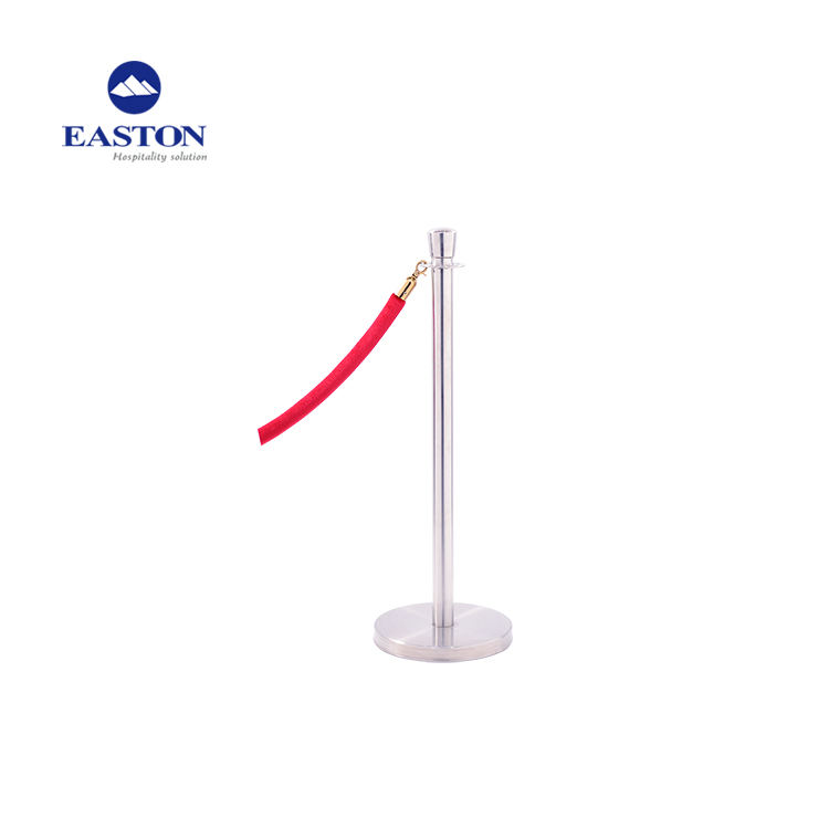 Stainless Steel Queue Rope Stanchions In Hotel Crowd Control Barrier Stanchions