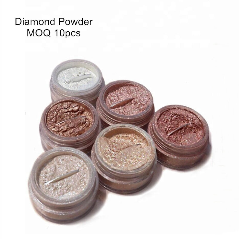 Diamond Rose gold waterproof shimmer glow bronzer highlighter makeup EyeShadow Loose Powder high Pigment Metallic Illuminator