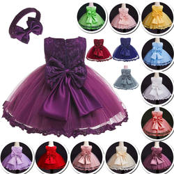 Hot new products kid clothes flower Birthday Children Baby Girls Party Dress Design