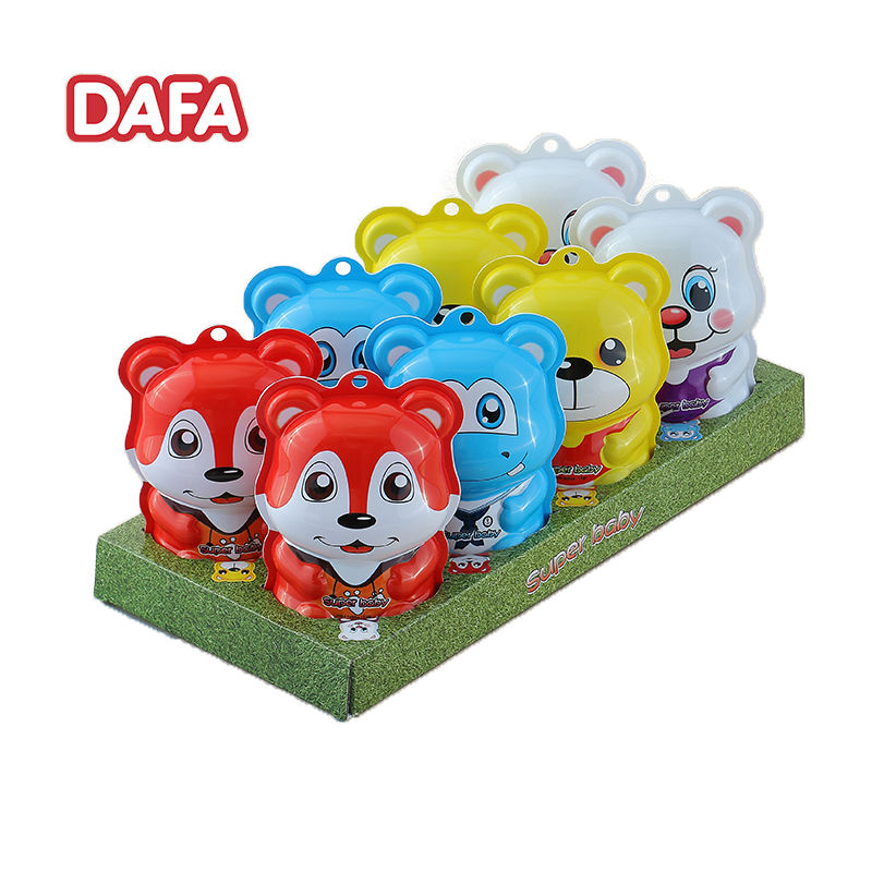 Hot selling children's favorite cartoon animal shape chocolate with biscuits and surprise toy