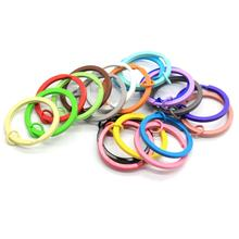 30mm Split Round Shape Colorful Key Rings Solid Color  Flat Split Ring Key Chain Hook Fob Holder