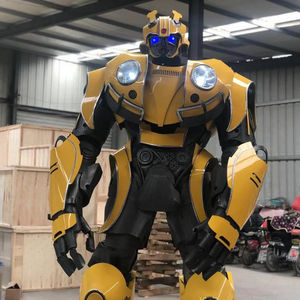 2020 New Arrival Change Face Realistic Robot Costume For Business Promotion