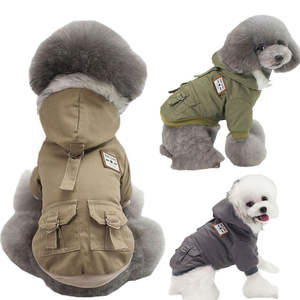 Factory wholesale dog luxury clothes Double-sided cotton Coats And Jackets Pet Coat clothes