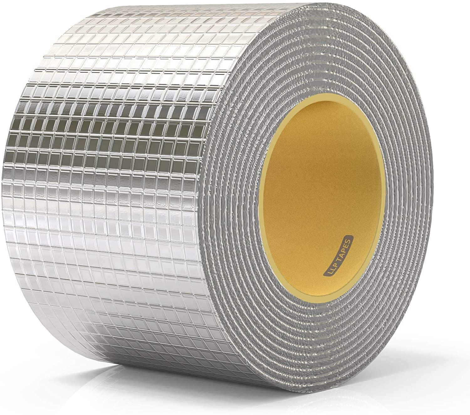 Aluminium Butyl Tape 2 Inch <span class=keywords><strong>X</strong></span> 16.5 Voeten Hatch Cover Flashing Permanente Waterdichte Lek Reparatie Tape Voor Boot Pijp Rv luifel Dak