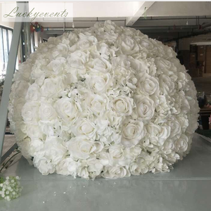 lfb405-white 70cm large customize round wedding artificial rose Flower Balls for wedding table decoration