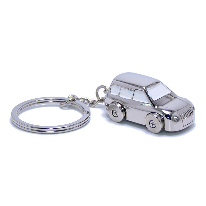 Mini 3D SUV Model Car Shaped Key Chain Ring Holder Alloy Wholesale Custom OEM Auto Charms EDC Creative Metal Toy Car Keychain