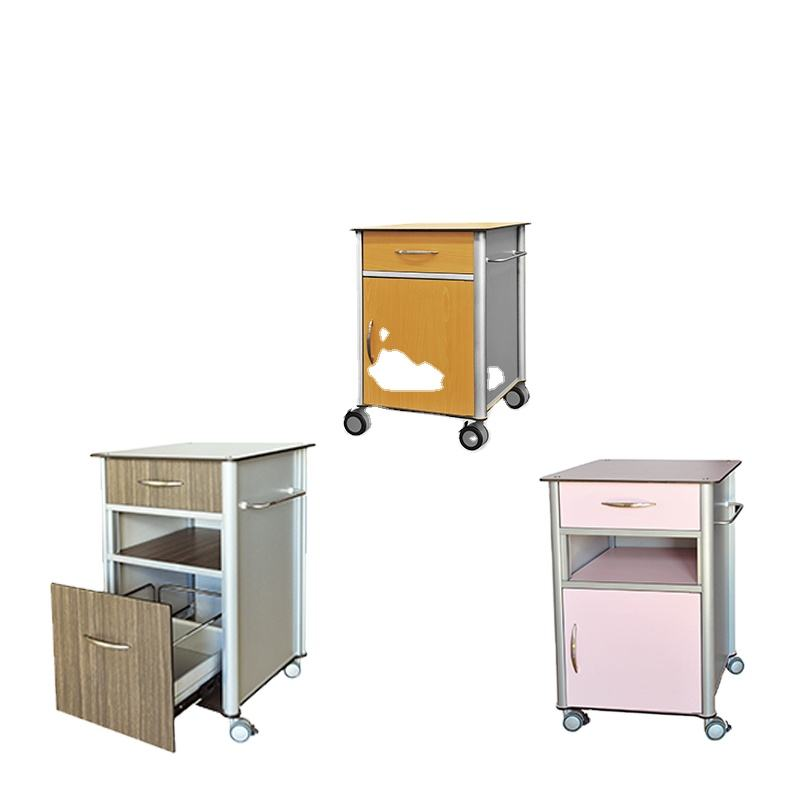 ISO13485 ISO9001 approved hospital lockable bedside cabinet