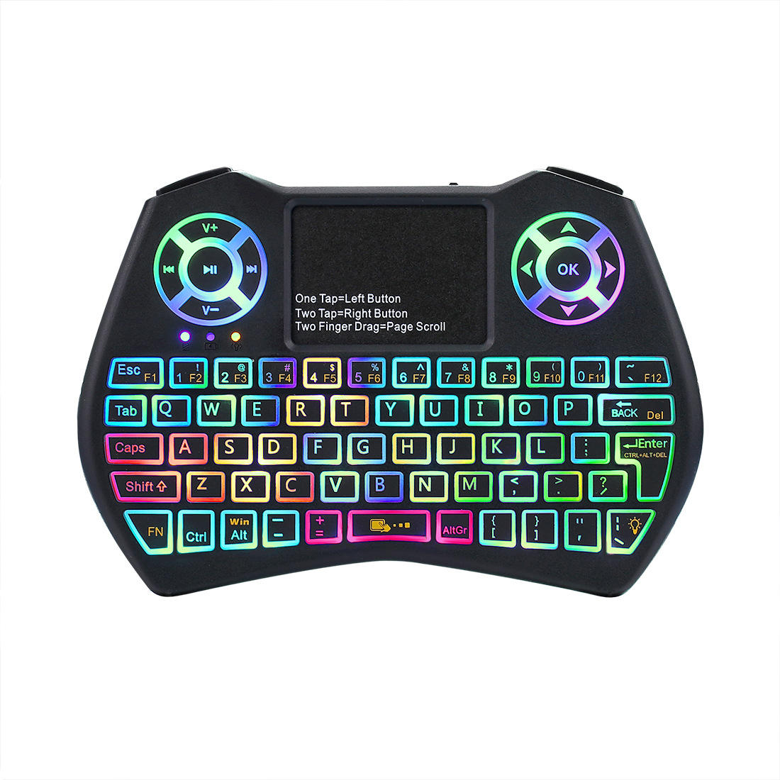 Mini 2.4GHz Keyboard I9 Plus Colorful Backlight Fly Air Mouse Wireless Keyboard With Touchpad Remote Control keyboard for sharp
